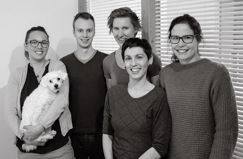 het team van Kine Lisp in Lier op de foto