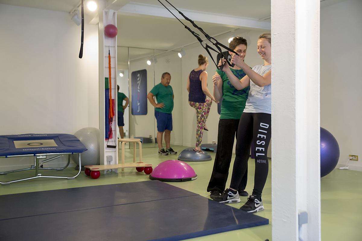 sportkinesitherapie met toestellen